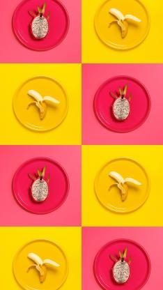 水果 色彩 鲜艳 香蕉 火龙果
