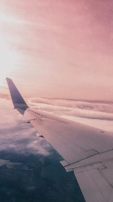 飞机 云层 云海 机翼