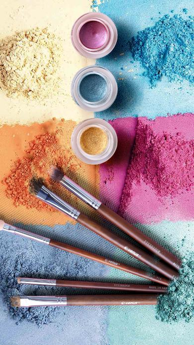 色彩 彩妆 化妆工具 毛刷