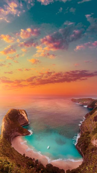海湾 夕阳 类 唯美 渐变