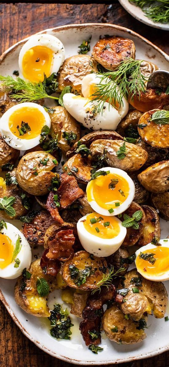 鸡蛋 土豆 蔬菜 温泉蛋