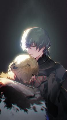 日漫 二次元 情侣 拥抱