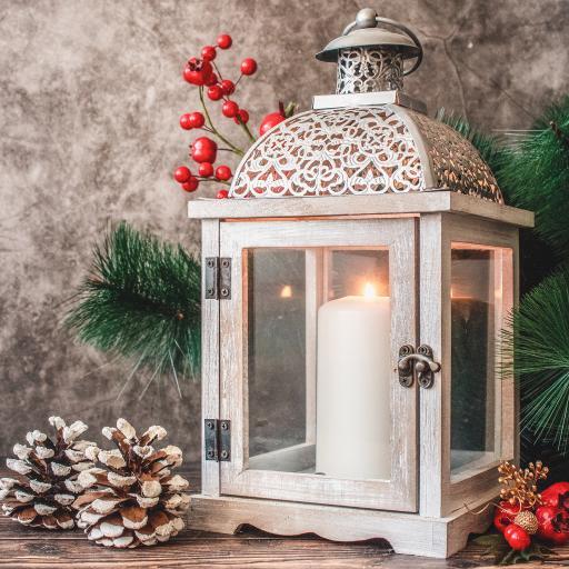 烛台 蜡烛 松果 灯屋