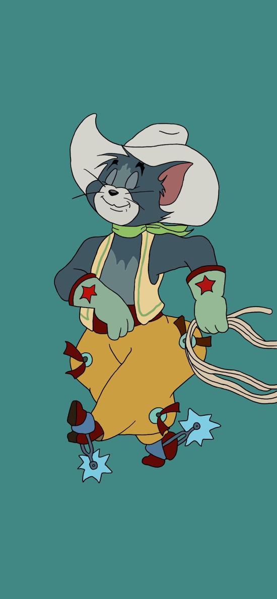 动画 猫和老鼠 汤姆猫 Tom 牛仔
