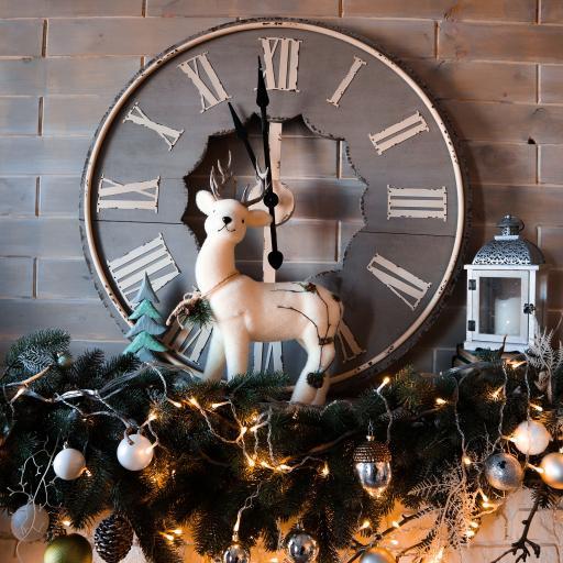 圣诞 装饰 麋鹿 钟表