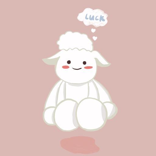 可爱 卡通 绵羊 luck