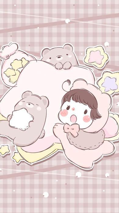 可爱 小熊 卡通 插画