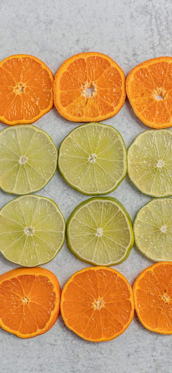柑橘 橙 青柠 切片 水果