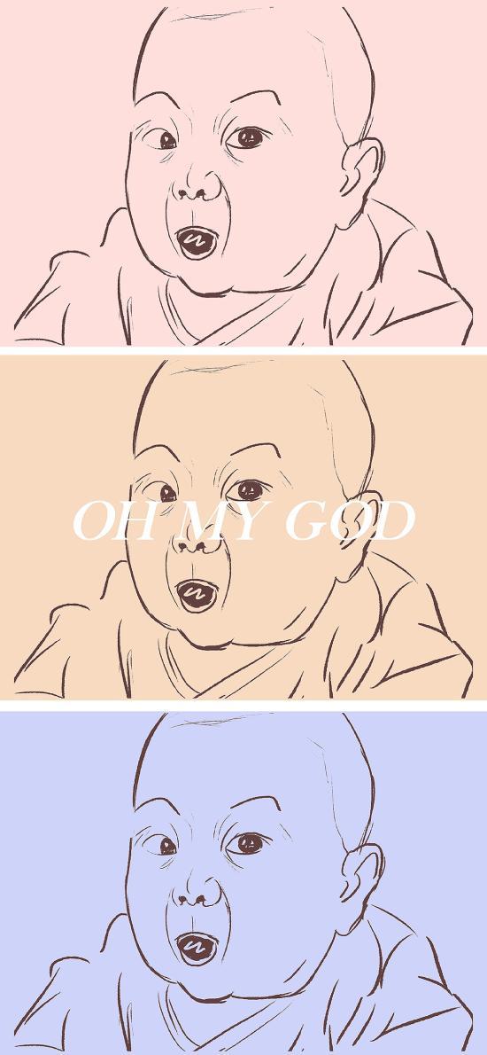 拼图 oh my god 偶买噶 插画