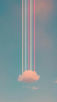 彩虹 云朵 色彩 滤镜