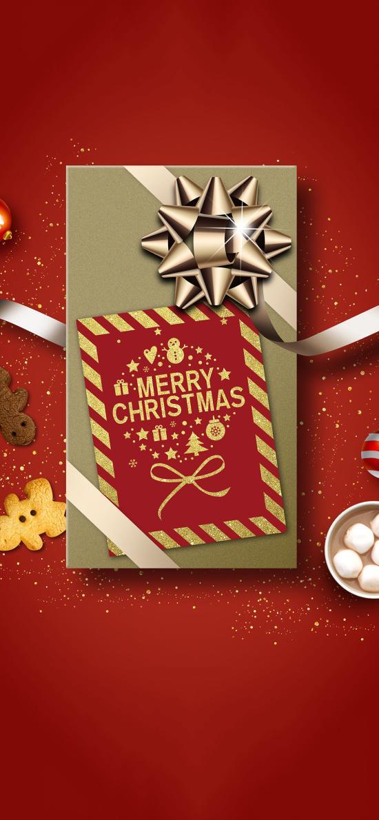 圣诞节 Merry Christmas 卡片 棉花糖