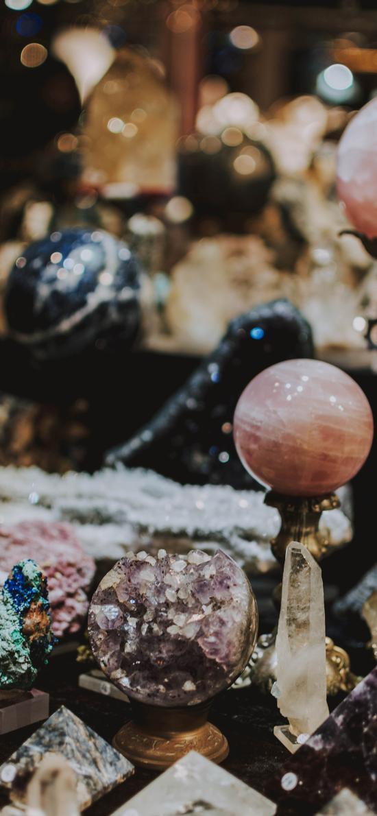 晶石 水晶 球体 粉色