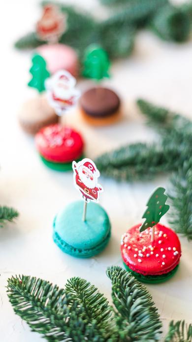 马卡龙 点心 装饰 圣诞