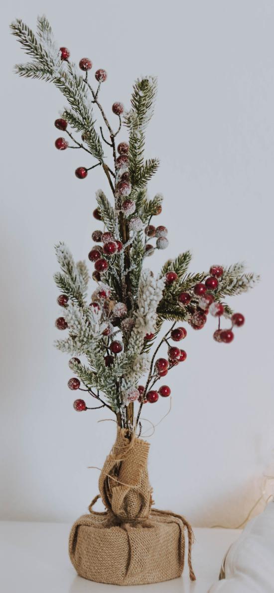 装饰 饰品 树枝 浆果 摆件