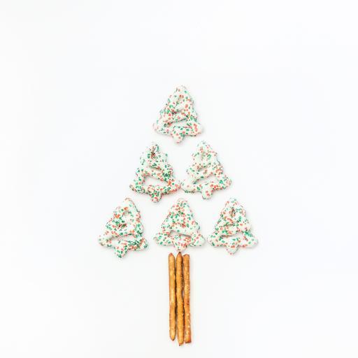 烘焙 饼干 圣诞树造型 糖霜