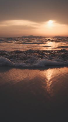 海浪 沙滩 太阳 阳光
