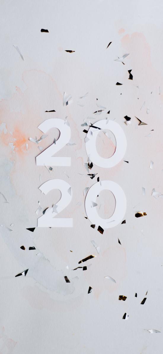 新年 元旦 2020 鼠年 数字