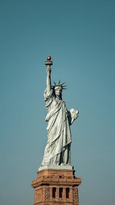 自由女神像 雕塑 雕刻 美国