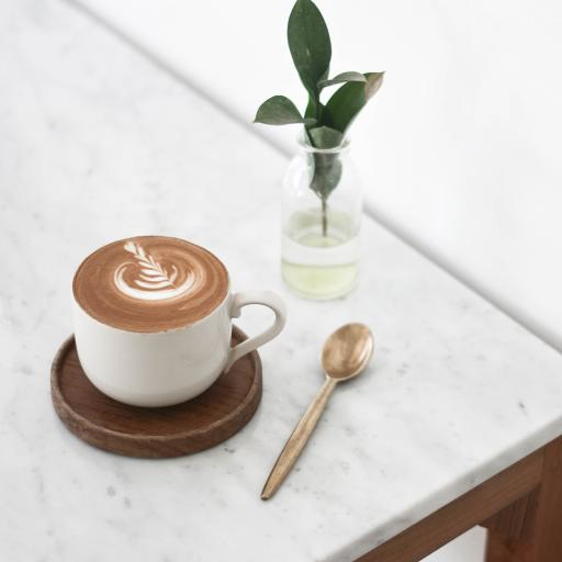 咖啡 拉花 杯具 绿植