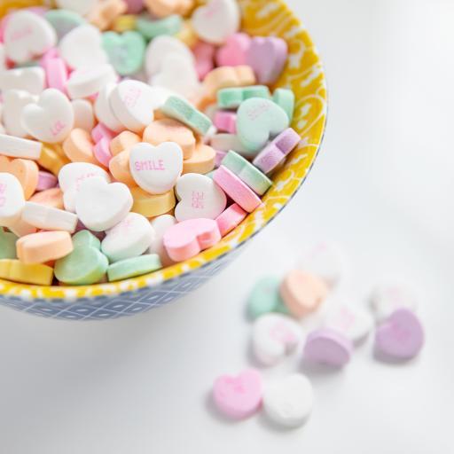 糖果 颗粒 爱心 堆积