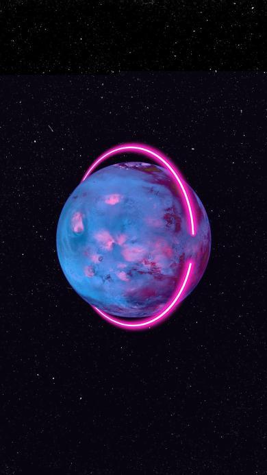 光圈 发光 光环 星球 星空 宇宙 太空