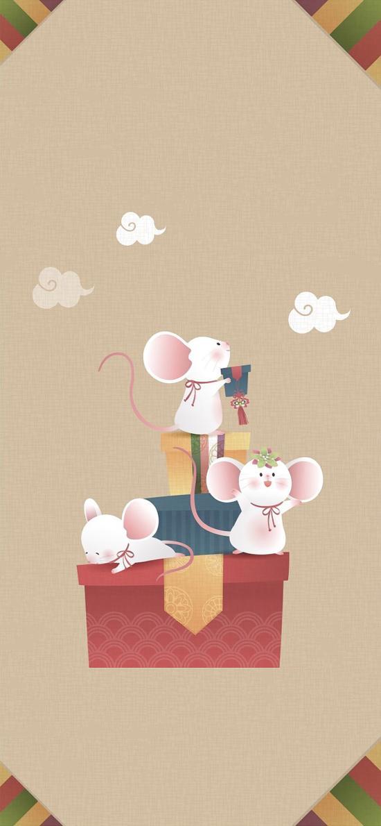 可爱 卡通 鼠年 礼盒