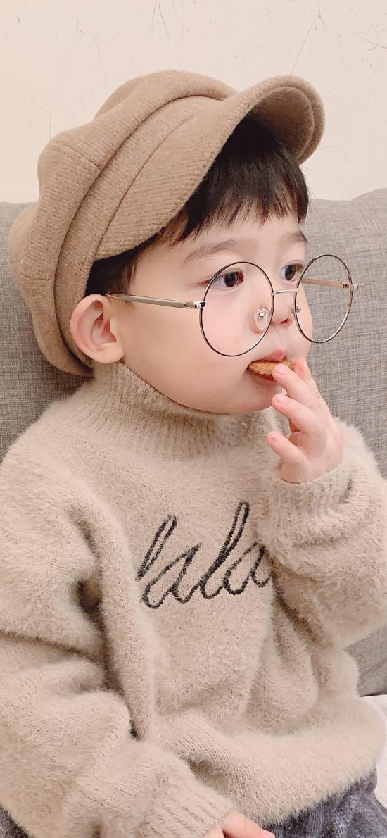 李浠晗 可爱 童模 眼镜