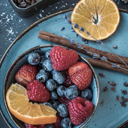 水果 蓝麦 树莓 橙