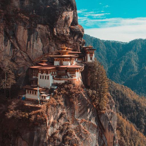 建筑 风景 峭壁 群山