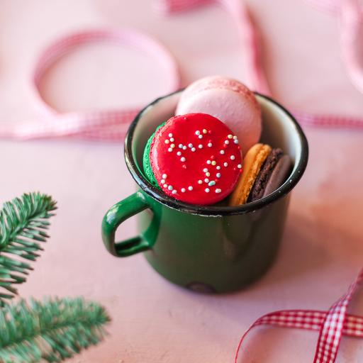 马卡龙 点心 甜食 搪瓷杯