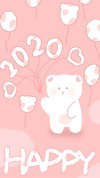 新年 鼠年 2020 happy 粉