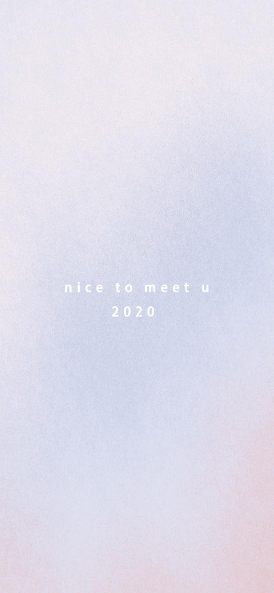 2020 你好 nice to meet you