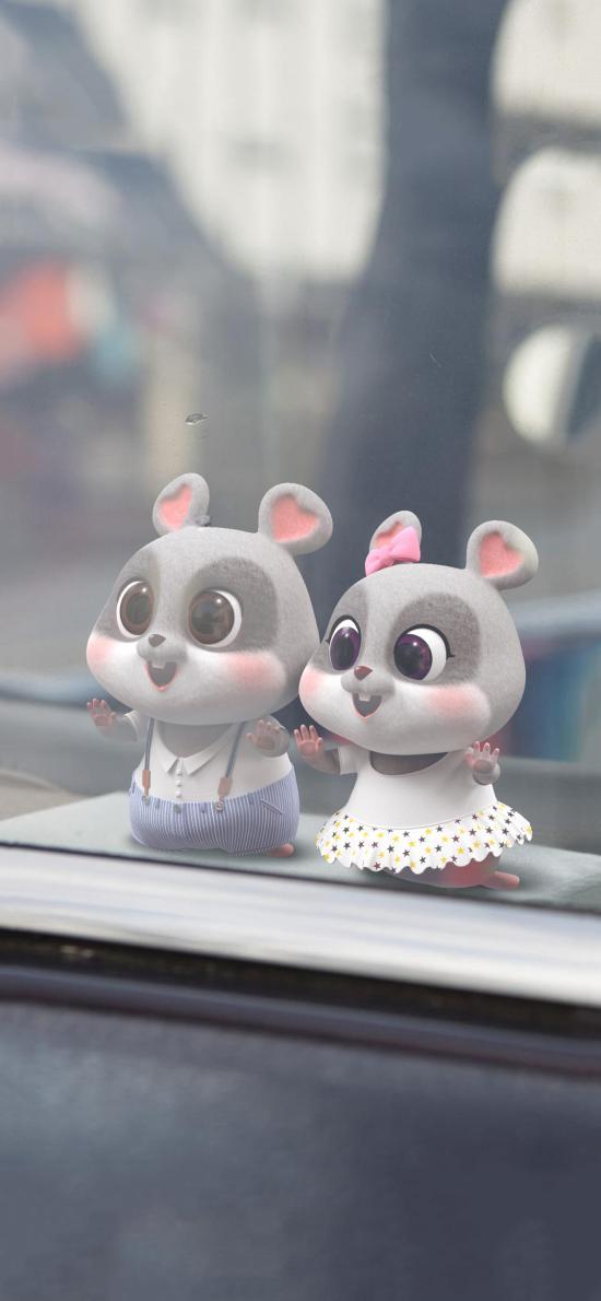 鼠元宝 老鼠 可爱 玻璃