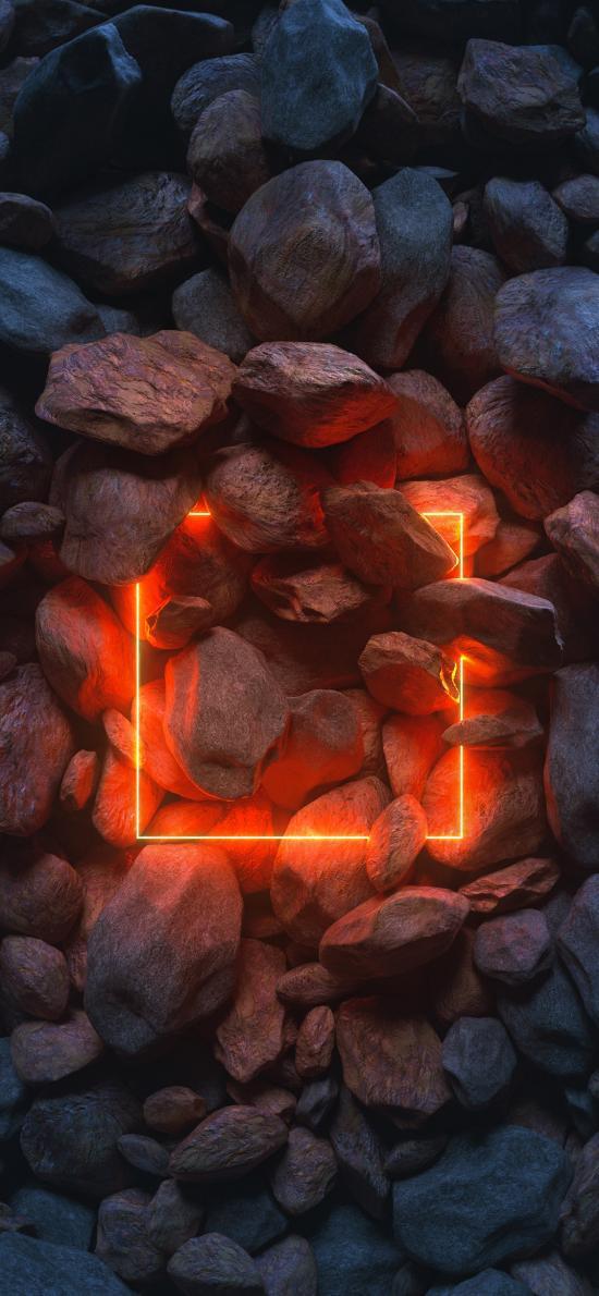 石头 发光 正方形 矩形