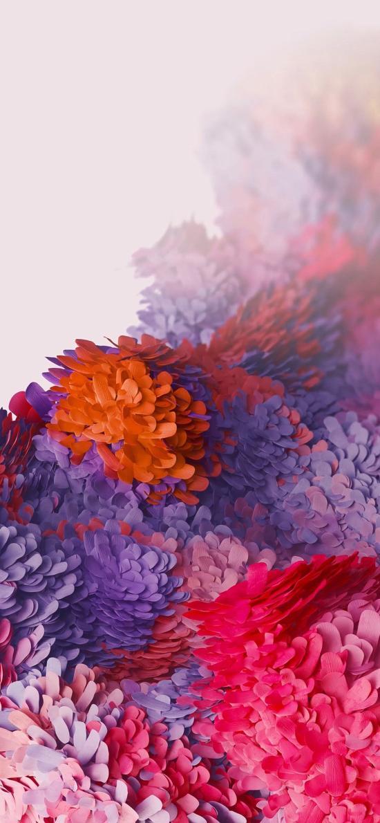 纸艺 花 盛开 色彩 炫丽