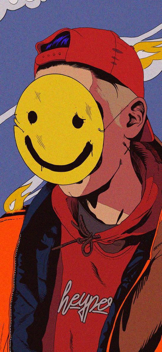 笑脸 人 插画 表情 面具