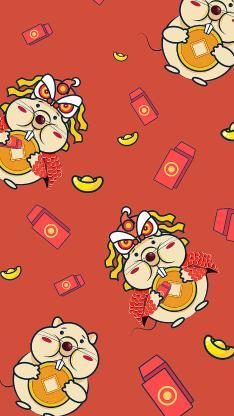鼠年 平铺 红包 新年