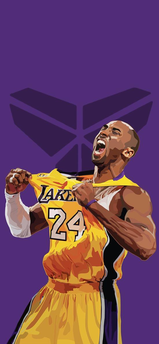科比 篮球运动员 NBA 紫色