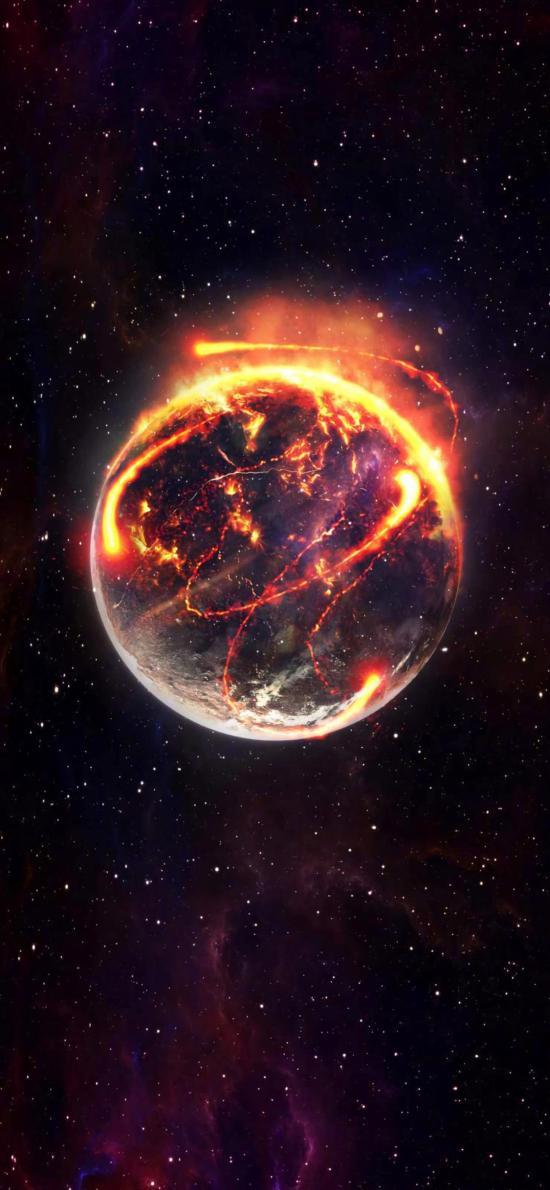 星球 燃烧 宇宙 太空