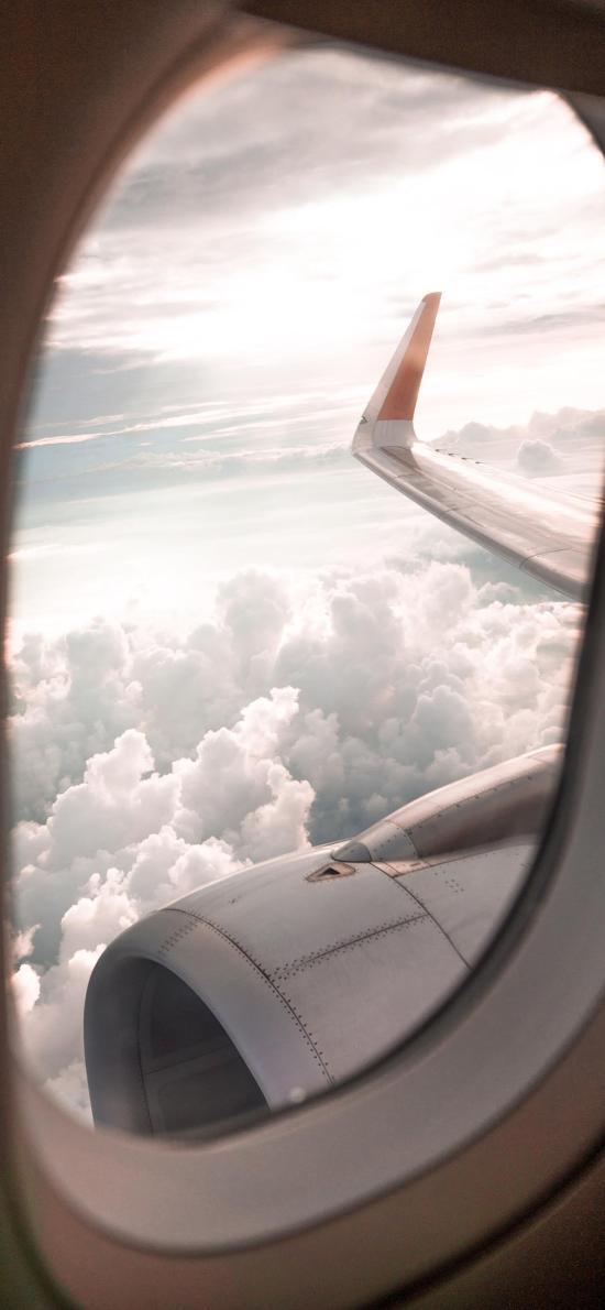 飞机 机翼 飞行 云端 太空
