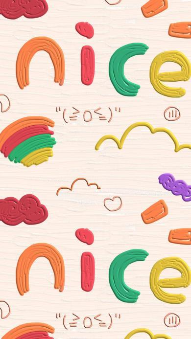 卡通 nice 色彩 彩虹