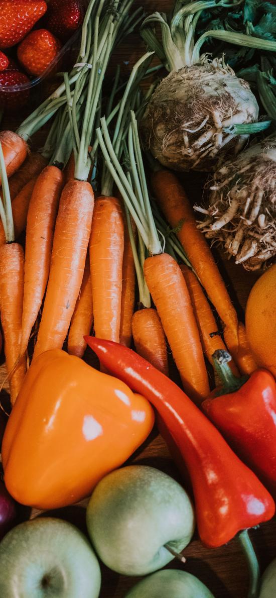 食材 素材 胡萝卜 菜椒