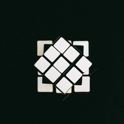 魔方 黑白 立体 方格