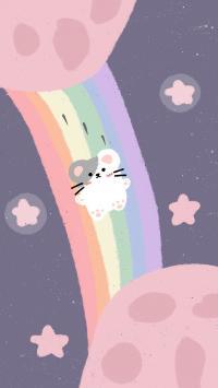 彩虹 老鼠 宇宙 星球 星星