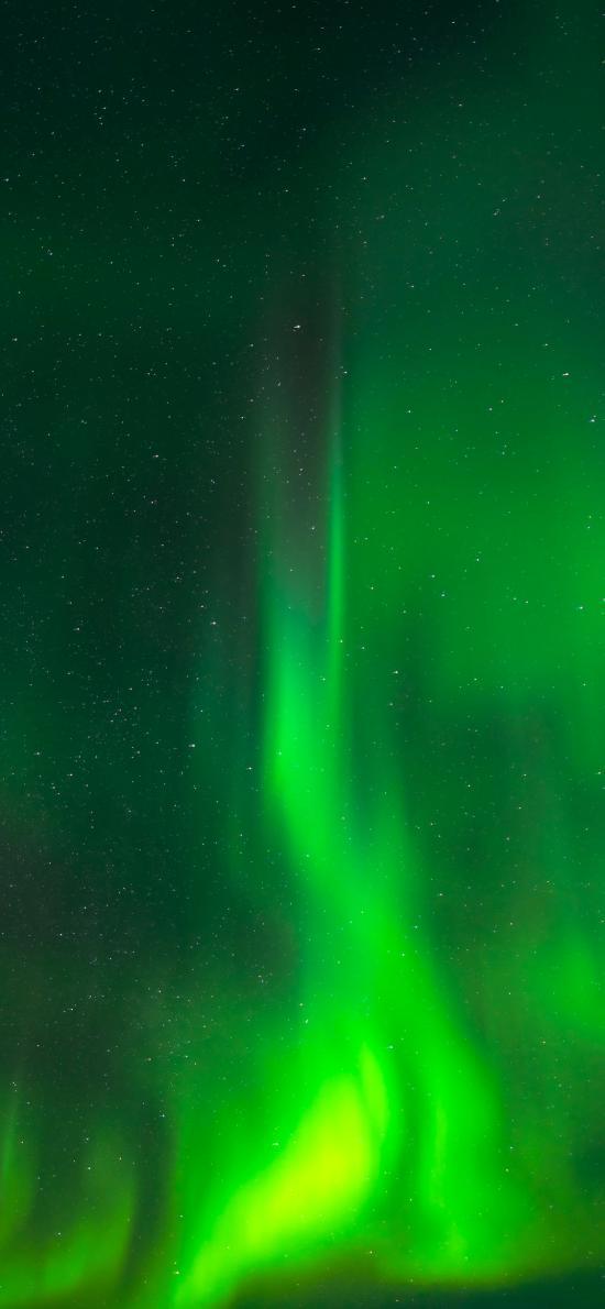 极光 绿色 美景 星空