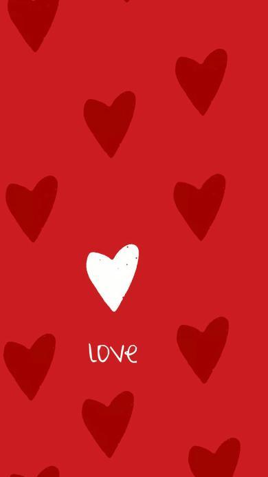 爱心 红 love 平铺