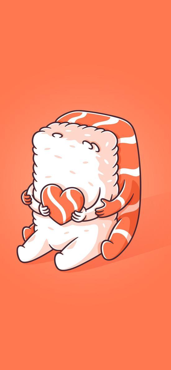 寿司 爱心 三文鱼 饭团