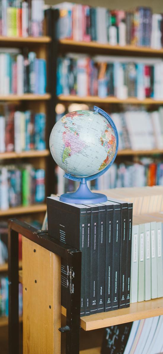 地球仪 地理 书本 图书馆