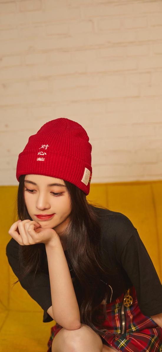 鞠婧祎 歌手 演员 明星 帽子