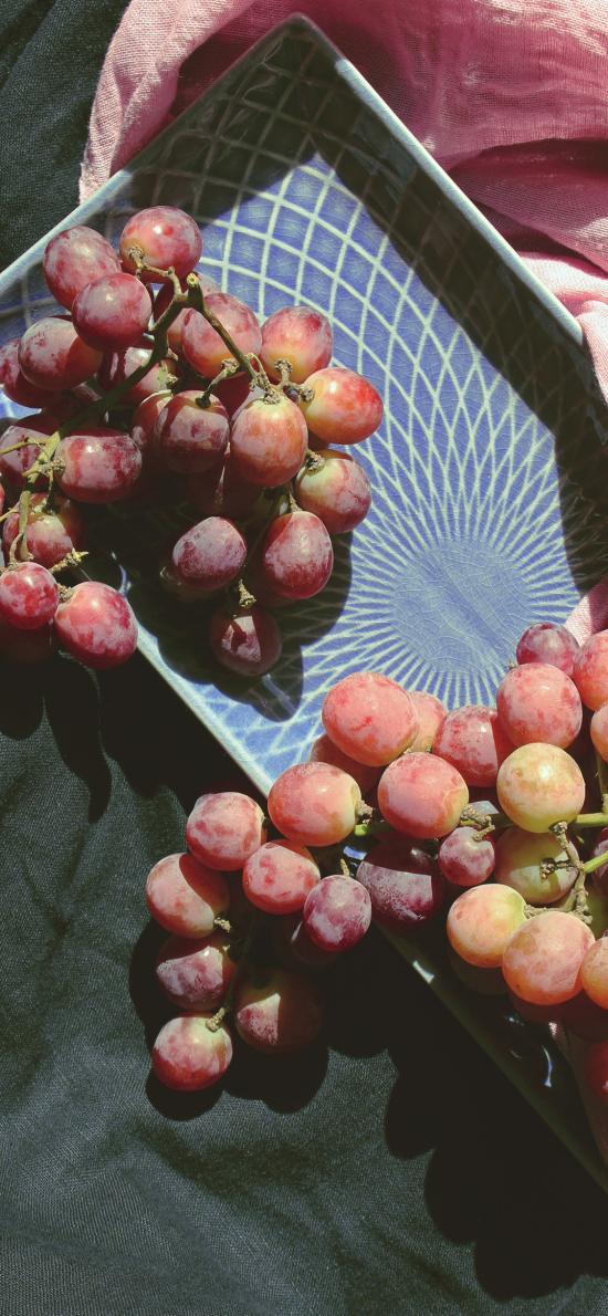 葡萄 水果 盘子 新鲜